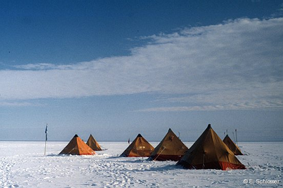 Field camp, Filchner Ice Shelf, Antarctica, 1992