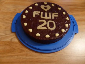 With this new project, Elisabeth Schlosser will have been funded by the FWF for 20 years. This was worth a cake! :-)