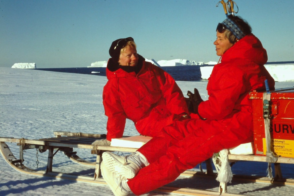 Enjoying the warm summer sun on a little Trip to the ice shelf edge, together with my colleague and friend Ulli