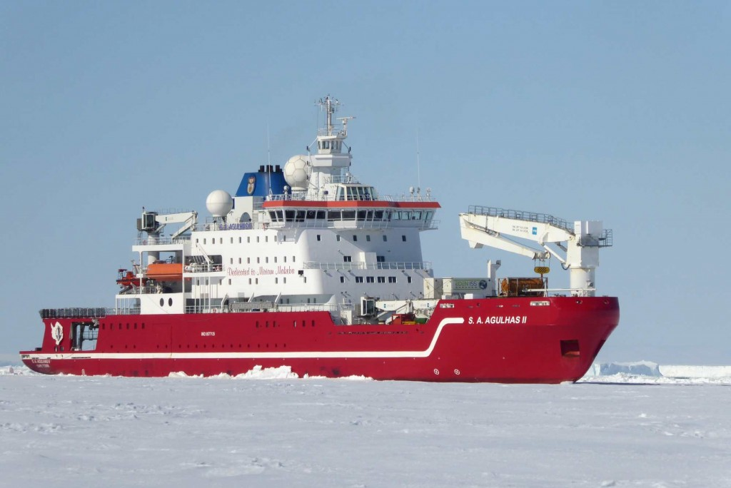 The ice breaking research vessel S.A. Agulhas